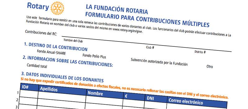 Nuevo formulario para contribuciones múltiples LFR – FHRE