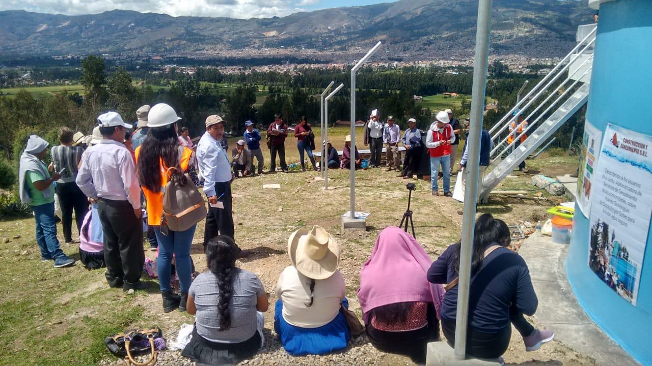 """Cierre Proyecto Agua Segura: """"Mejora del acceso al agua potable y saneamiento en condiciones de equidad y sin discriminación para 27 comunidades rurales del Distrito Municipal de Baños del Inca, Cajamarca (Perú)"""""""